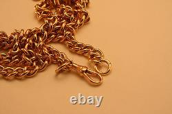 100% Genuine 9k Rose Gold Curbed Link Watch Chain 67cm Strong and Heavy