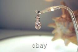 11.5mm Heavy Solid 14k Rose Gold DC Diamond Cut 3d Hawaiian Pineapple Pendant