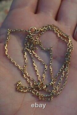 14 K Rose Gold 583 Russian Heavy Chain 27! Extremely Rare