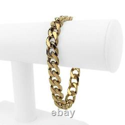 14k Rose Gold 54.6g Solid Heavy Thick 10mm Cuban Curb Link Bracelet 8