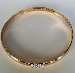 18k Rose Gold Bangle Bracelet 24g Ippolita heavy 0.3 7.75 $4195 MSRP