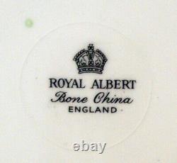 1960s Royal Albert ROSE BOUQUET FLORAL CUP & SAUCER Heavy gold gilding MINT