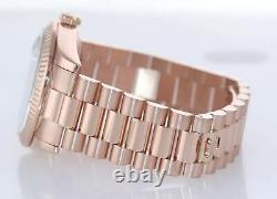 2015 Rolex President Day Date Rose Gold 36mm 118235 Diamond Heavy Buckle Watch