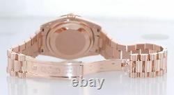 2016 Rolex President Day Date Rose Gold 36mm 118235 Diamond Heavy Buckle Watch