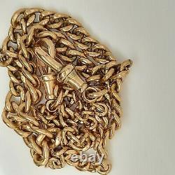 9 ct carat Rose gold fob watch chain 30g heavy rare jewellery hallmarked R55