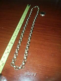 9ct Heavy Rose Gold RollerBall Belcher Chain 20 Hallmarked 54.3g Superb