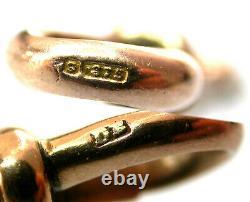 Antique Rose Gold 9ct Dog Clip HEAVY DUTY Swivel Albert Chain Fastener Edwardian