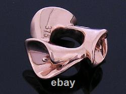 Bd088- Gorgeous REAL 9K 9ct Solid Pink / Rose Gold Heavy Calla Lily Bead Charm
