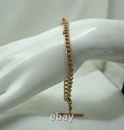 Beautiful Heavy 9ct Rose Gold Albert Bracelet