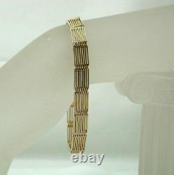 Beautiful Victorian Solid Heavy 9 Carat Rose Gold Gate Bracelet