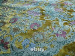 By Yd Scalamandre Old World Weavers Tosca Silk Cut Velvet Gold Rose Red Msrp$956