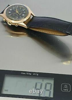 Clebar Landeron 51 Vintage Chronograph Tachymeter Rare Wanted Heavy 18K Gold