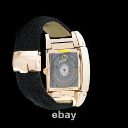 De Grisogono 18K Rose Gold Uno DF Dual Time GMT. Very Rare MOP Dial. Heavy