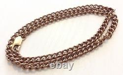 Fabulous Quality Vintage Very Heavy 9 Carat Red Rose Gold Neck Chain Superb