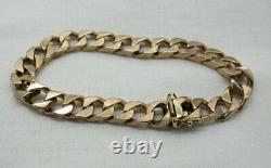 Gents Very Heavy 9 carat Rose Gold Square Curb Link Bracelet
