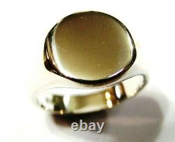 Genuine Heavy 375 Solid 9ct White Or Rose Or Yellow Gold Oval Signet Ring