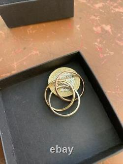 Gold Heavy Russian Wedding Ring 3 Colour White Yellow Rose Gold Size N