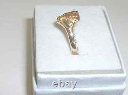 Gorgeous Black Hills Gold Style Rose Gold Heart Tricolor Ring Size 7 Heavy Nice