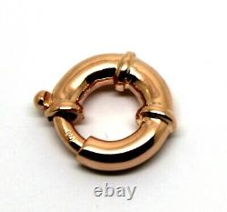 Heavy 18mm 9ct 375 Large Rose Gold Bolt Ring Clasp Free Express Post In Oz