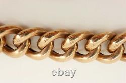 Heavy 19. Gr Victorian / Edwardian 9ct Rose Gold Bracelet (curb). Superb