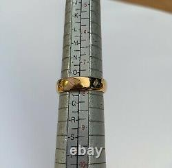 Heavy 22ct Rose Gold Wedding Ring Band Weight 7.7 Grams Hallmarked Size P
