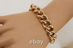 Heavy 27gr Victorian / Edwardian 9ct Rose Gold Bracelet (curb) Engraved. Superb