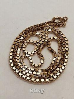 Heavy. 375, 9K Yellow & Rose Gold 2.5mm Box Chain 20.5 or 51cm Long, 10.4g
