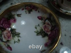 Heavy Gold Royal Chelsea Golden Rose Sugar Creamer & Tray Never Used