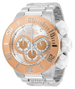 Invicta Men's 31539 Subaqua Chronograph Silver Rose Gold Heavy Oversized Watch