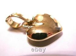 Kaedesigns, Genuine 9ct Heavy Full Solid Rose Gold Heart Pendant With Enhancer
