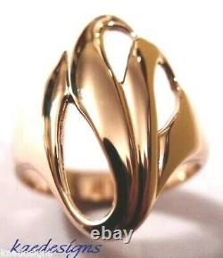Kaedesigns, Genuine Heavy 9ct 9k Solid Rose Gold Fancy Swirl Dome Ring