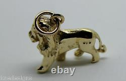 Kaedesigns, Heavy 3D 9ct Yellow Or Rose Or White Gold Lion Charm Or Pendant