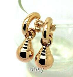 Kaedesigns Heavy New Genuine 9ct Rose Gold Ball 10mm Euro Ball Stud Earrings