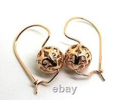 Kaedesigns New 9ct 9k Rose Gold Heavy 12mm Ball Filigree Earrings