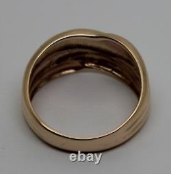 Kaedesigns New Genuine 9ct 9k Rose Gold Heavy Dome Ring Size P