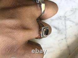 Le Vian Chocolate Quartz & Diamond Halo Ring 14k Rose Gold Levian $6600 Heavy