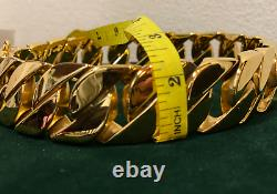 Luxury Dog Chain Collar Stainless Steel Big Large Dog Heavy Duty 1.25 Wide