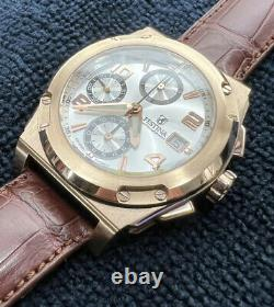 Men's Festina Shockwave 18k Solid Rose Gold Heavy Chronograph Watch ETA 7750