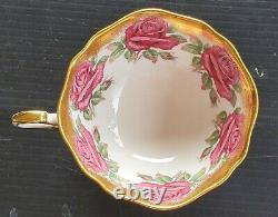 PARAGON Cabbage Rose Heavy Gold Teacup Only Set RARE READ