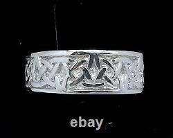 R280-Genuine SOLID 9K 9ct Rose Gold HEAVY WIDE Celtic BAND Ring Wedding size U