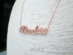 Rare Heavy 18ct Rose Gold. 56ct Barbie Round Natural Diamond Pendant Necklace