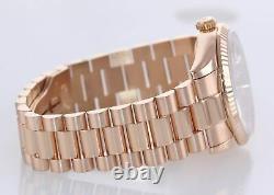 Rolex President Day Date Rose Gold 36mm 118235 Diamond Heavy Band Watch Box
