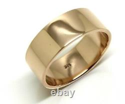 Size N Genuine Heavy New 9ct 9k Rose Gold / 375, Full Solid 8mm Wide Band Ring