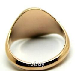 Size S Kaedesigns Genuine 375 9kt 9ct Rose Gold Full Solid Heavy Signet Ring 318