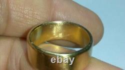 Solid 19k rose gold heavy 8.25mm wedding band ring 12.32 grams sz 7.75 18k