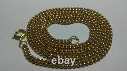 Solid heavy 14k rose gold 3mm cuban curb chain 16.42 grams 18.25 long