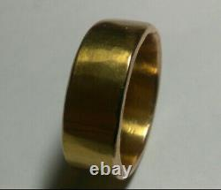 Solid heavy 21k rose gold 8.5mm wide wedding band ring 16.57 grams sz 10.25