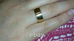 Solid heavy 22k rose gold 7mm wedding band ring 9.38 grams sz 6.75