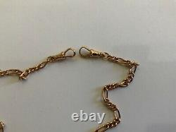 Stunning 9ct Rose Gold Fancy T Bat Twisted Curb Link Chain 18 Heavy Dog Clip