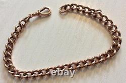 Stunning Early Vintage Solid Heavy 9CT Rose Gold Albert Bracelet Pristine